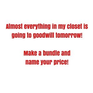 Tops - I'm getting rid of everything tomorrow!